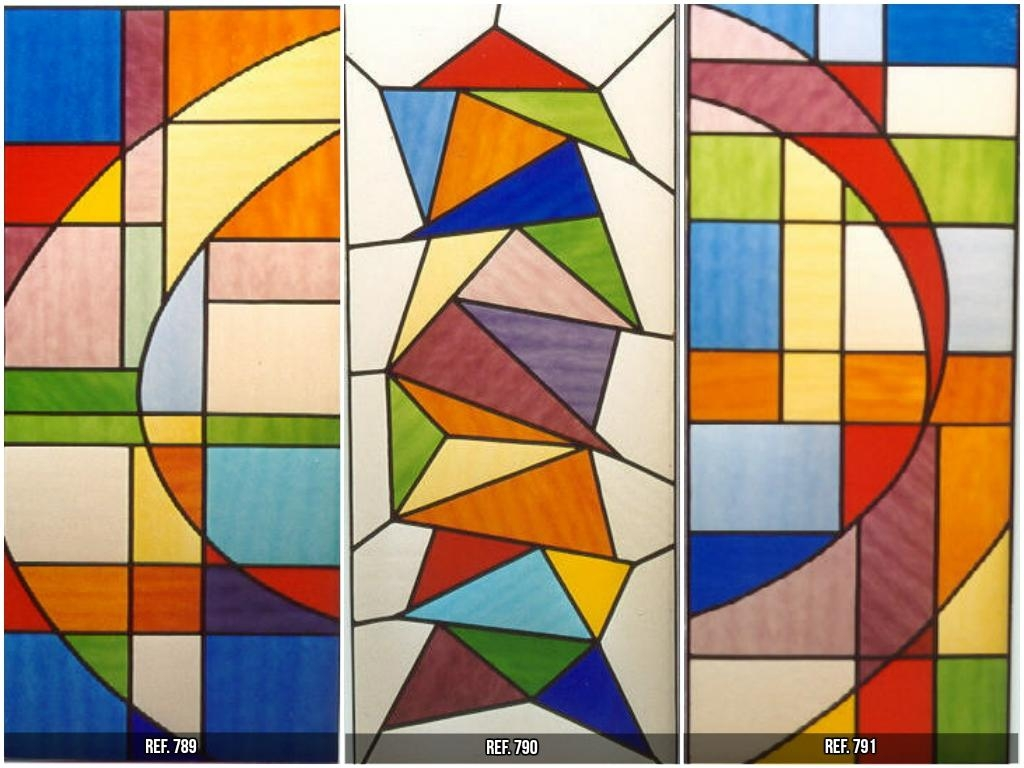 STAINED GLASS WITH IRREGULARS SHAPES